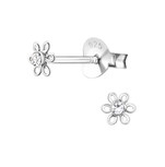 C398-C18369 - 925 Sterling Silver Baby Flower Earings 4mm