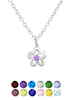 Silver children's birthstone necklace South Africa