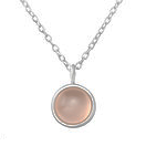 C1250-C31906 - 925 Sterling Silver Rose Quartz Dyed Chalcedony Necklace