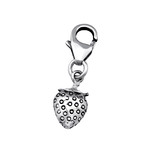 C32111 - 925 Sterling Silver Strawberry Charm Dangle