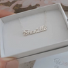 N12 - Personalized Name Necklace, Small Script Style, 925 Sterling Silver