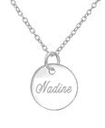 C607-C36726 - 925 Sterling Silver Personalized Scratch Engraved Necklace