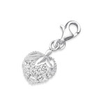 B89-C853 - 925 Sterling Silver CZ Strawberry Dangle Charm