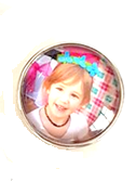 20SCU-01 - Personalized Photo Snap Button Charm Large