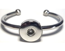 20SB-01 - Stainless Steel Bangle for Large Snap Charm