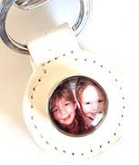 20SK-CU - Personalized Keyring with Custom Photo Snap Button