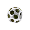Sterling silver olivine European charm bead