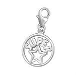 C565-C7283 -  925 Sterling Silver Super Star Charm Dangle