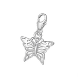 B25-C00008 - 925 Sterling Silver butterfly charm