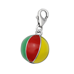 Sterling silver beach ball charm