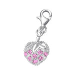 B89-C853 - 925 Sterling Silver CZ Strawberry Charm