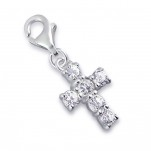 C27-C3339 - Sterling Silver Cross Dangle Charm