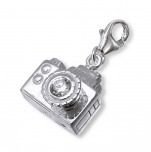 C15-C11686 - 925 Sterling Silver Camera Charm Dangle for Charm Bracelet