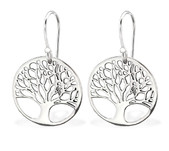 C139-C29428 - 925 Sterling Silver Tree of Life Earings