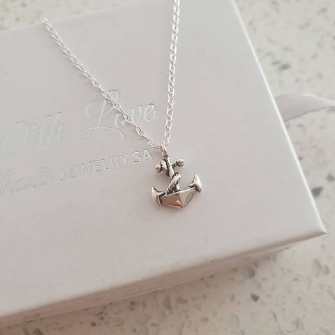 C411-C32249 - 925 Sterling Silver Anchor Necklace