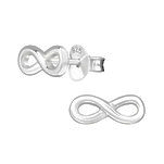 C1282-C18394 - 925 Sterling Silver Small Infinity Earrings