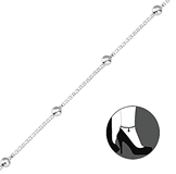 C659-C35728 - 925 Sterling Silver Box Chain Anklet 23cm, 5cm Extension