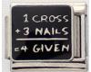 ER057 - 1 Cross, 3 Nails = 4given