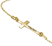 N153 - Gold Plated Personalized Cross Necklace