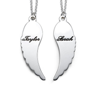 N207 - Wing Necklace, Couples Set or Single