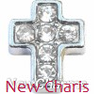 FLC13 - Silver Cross Floating Locket Charm