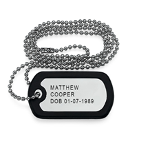 N205 - Stainless Steel personalized custom dog tag necklace