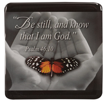 MGE009 - Be Still and know that I am God, 7.3 x 7.3cm Gift Magnet