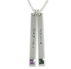 N33 - Sterling Silver personalized Family / Couples names & Birthstones necklace