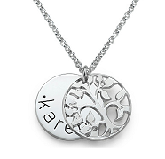 N201 - Sterling Silver Family Tree Necklace