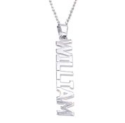 N442 - Sterling Silver Personalized Name / Word Necklace