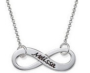 N53 - Sterling Silver Personalized Infinity Name Necklace