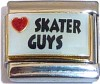 CL91 - Love Skater Guys Italian Charm