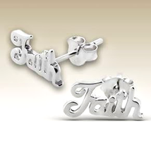 UNFL - Sterling Silver Faith Earings