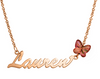 NN7 - 9K Rose Gold Personalized Name Necklace with Round birthstone (Ready in 8 Working Days!)