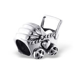 C190-C5597 - 925 Sterling Silver Baby Pram / Carriage European Charm Bead