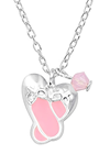 Sterling Silver Children's Ballet shoes Ballerina Necklace