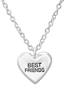 C684-C35185 - 925 Sterling Silver Best Friends Heart Necklace