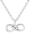C683-C27416 - 925 Sterling Silver Tiny BFF Infinity Necklace