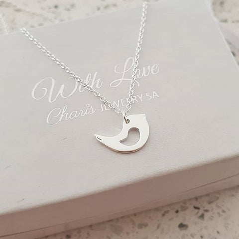 C1192-C36703 - 925 Sterling Silver Bird Necklace