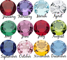Birthstone charms for floating locket necklaces SA