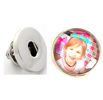 20SCU-01+Brooche - Personalized Clip on Photo Charm and Brooche