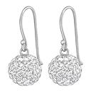 C838-C36907 - 925 Sterling Silver Crystal Dangle Earrings 10mm