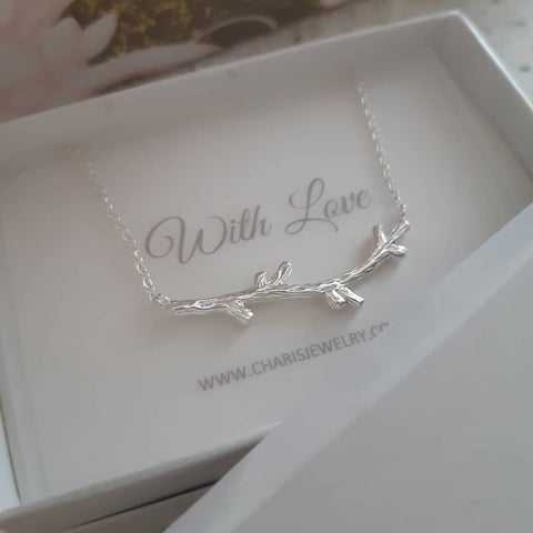 C819-C32260 - 925 Sterling Silver Branch Necklace