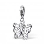 C117-C3147 - 925 Sterling Silver Butterfly Charm Dangle