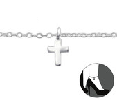 C145-C27660 - 925 Sterling Silver Cross adjustable / Ankle Chain