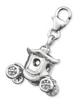 C17487 - 925 Sterling Silver Carriage Dangle Charm