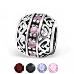 Sterling silver european charm bead