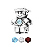 Sterling silver boy european charm bead