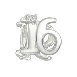 C69-C3654 - 925 Sterling Silver 16 European Charm Bead