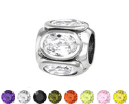 Sterling silver cz european charm bead online store in South Africa